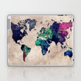 World map watercolor 1 Laptop & iPad Skin