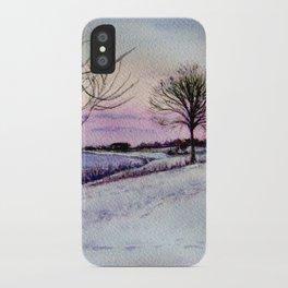 Winter evening in Racine iPhone Case