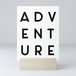 Adventure Minimalist Quote Mini Art Print