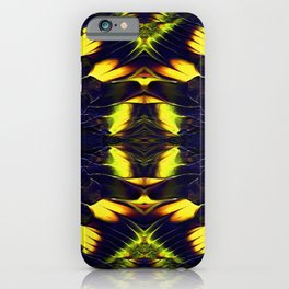 Abstract art with broad strokes with thick paint layer iPhone Case