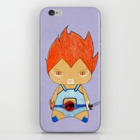 thundercats iPhone & iPod Skins featuring A Boy - Lion-O (Thundercats) by Christophe Chiozzi