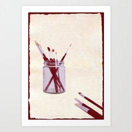 Blank Canvas   Red Art Print