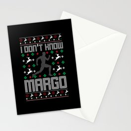 I Don't Know Margo Funny Christmas Ugly Sweater PJ Stationery Cards