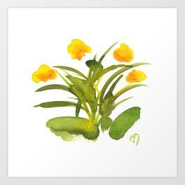 Atom Flowers #34 Art Print