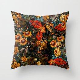 Midnight Garden VII Throw Pillow