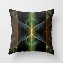 Fairy Gate Fractal Throw Pillow