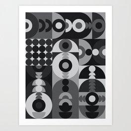 Geometry Games V / Black Palette Art Print