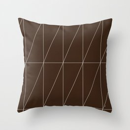 Brown Triangles by Friztin Throw Pillow