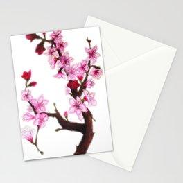 Cerezo en flor Stationery Cards