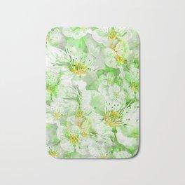 Light Floral Collage Bath Mat