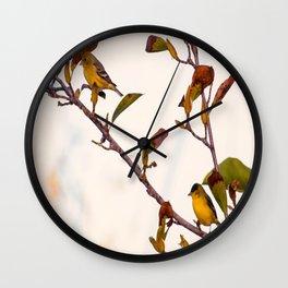 Two Little Birds Wall Clock