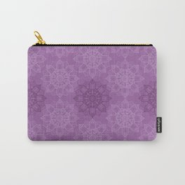 Purple Mandala pattern, Mandala texture, Simple design Carry-All Pouch