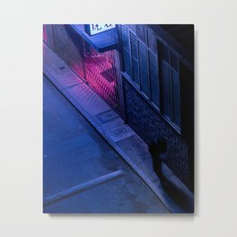 A shadow in the alley Metal Print