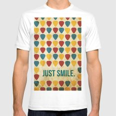 Just Smile. White Mens Fitted Tee MEDIUM