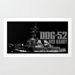 DDG-52 Barry Art Print