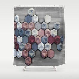 hex abstract Shower Curtain