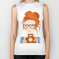 photographer Biker Tanks featuring Photographer by KylaArt