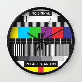 TV No Signal Wall Clock