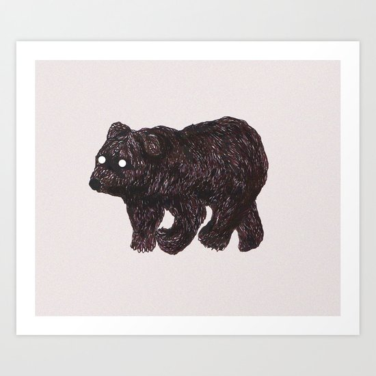 blind as a bear Art Print