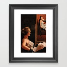 Victoria and the mirror Framed Art Print