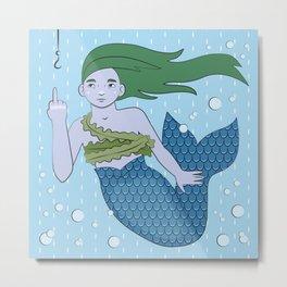 Angsty Mermaid Metal Print