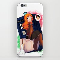 amy pond iPhone & iPod Skins featuring Doctor Who - Amy Pond by Lucy Fidelis
