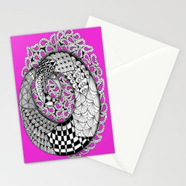 Zentangle Mobius Pink Stationery Cards