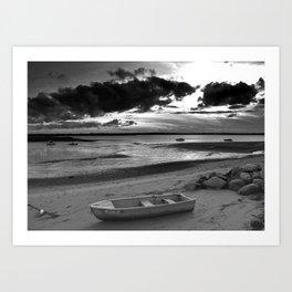 Black and White Sunset Art Print