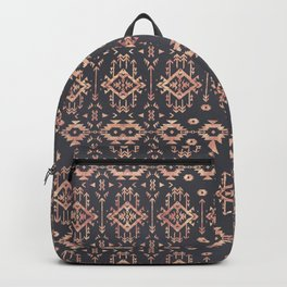 Trendy tribal geometric rose gold pattern Backpack