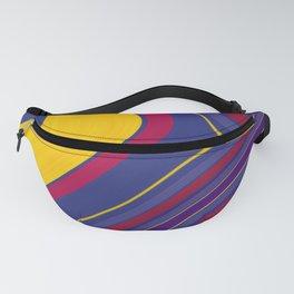 CRAY - vivid rich jewel primary color block design Fanny Pack