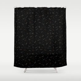 Ditzy Feynman diagrams and Particles on Black Shower Curtain
