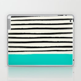 Aqua & Stripes Laptop & iPad Skin