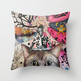 """Cat"" illustration Throw Pillow"