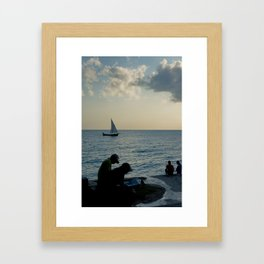 The Evening News Framed Art Print