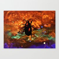 beetle Canvas Prints featuring Beetle by Mikhaelle A.