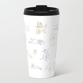Dogs, Dogs, Dogs! Metal Travel Mug