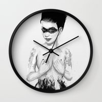 friday Wall Clocks featuring friday by Balazs Solti