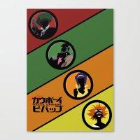 bebop Canvas Prints featuring Bebop Team by AngoldArts