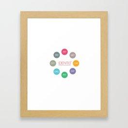 Identi3 Types Framed Art Print