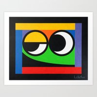 Smart Guy - Paint Art Print