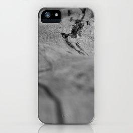 Black White Wood iPhone Case