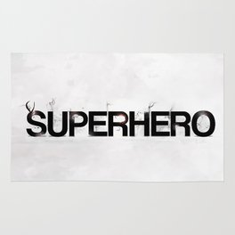 Superhero - gray wallpapers Rug