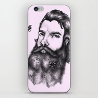 gandalf iPhone & iPod Skins featuring Yung Gandalf by Jessica Petrylak