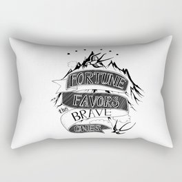 Fortune Favors the Brave Ones Rectangular Pillow