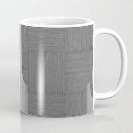 Gray Faux Bois Wood Pattern Coffee Mug
