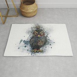 Steampunk Owl Rug