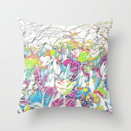 GALATHI Flower Spring is Here Pink - Flowers Throw Pillow