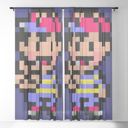 Earthbound Ness sprite Sheer Curtain