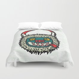 Traditional Croatian carnival mask from the region around Rijeka Duvet Cover