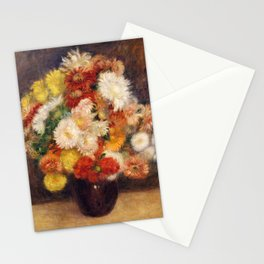 Bouquet of Chrysanthemums, Renoir Stationery Cards